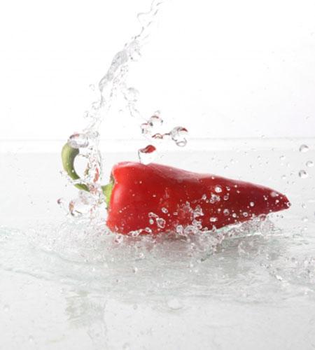 次亜塩素酸水と食品の画像